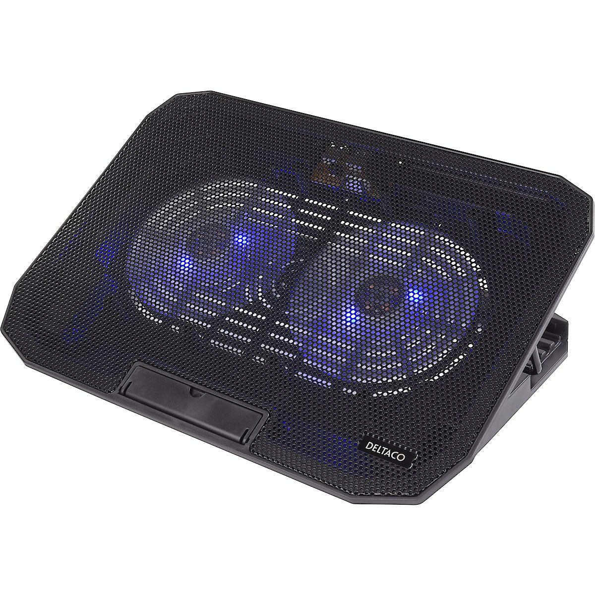 Laptopställ med fläktkylning, Deltaco LTC-100