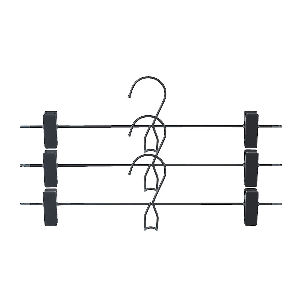 Bukse-/skjørtehenger metall, 3 pk