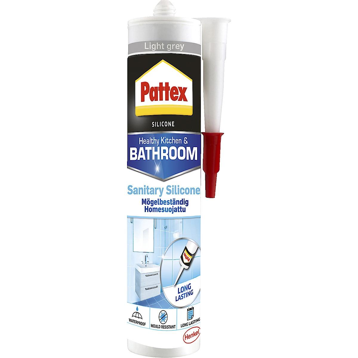 Pattex silikon til kjøkken og bad, lysgrå