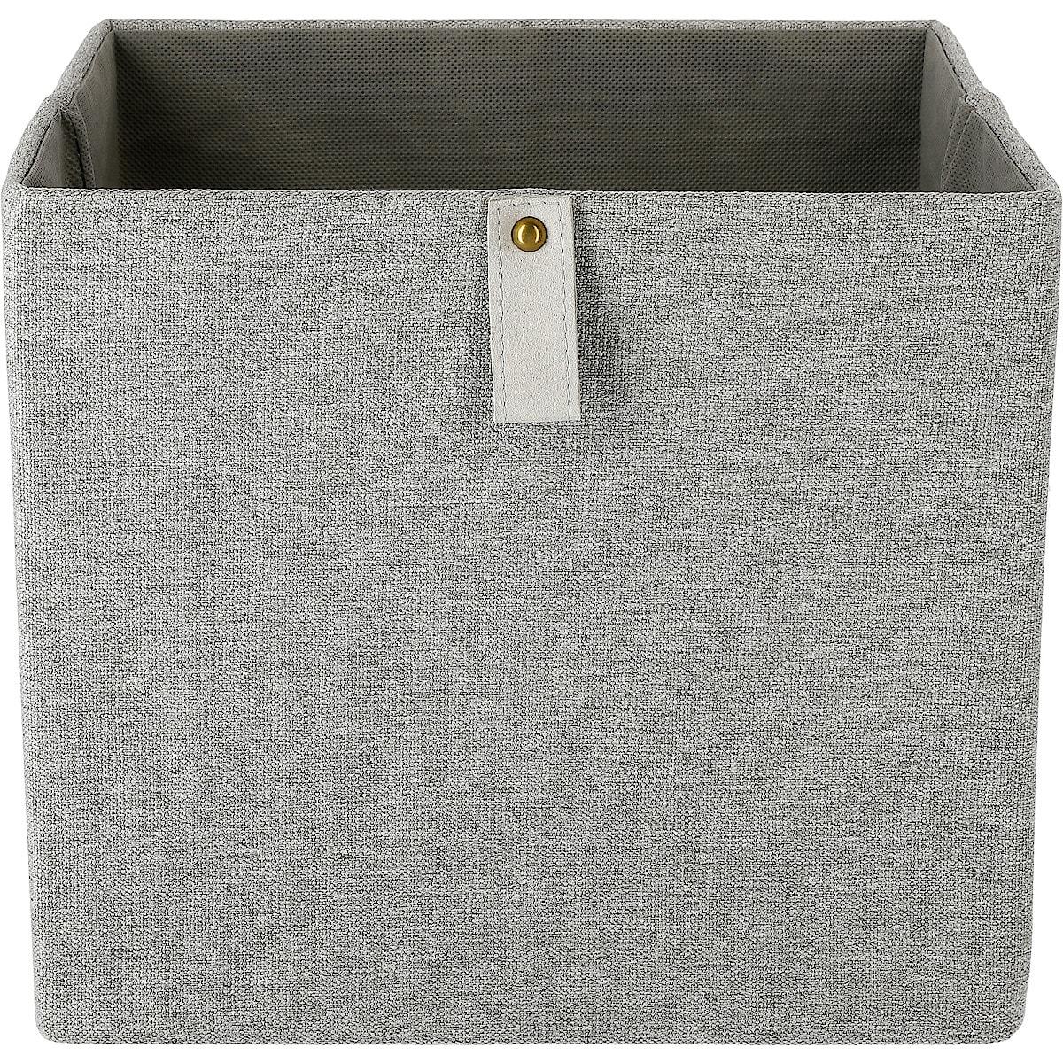 Kvadrat oppbevaringsboks, lin-look