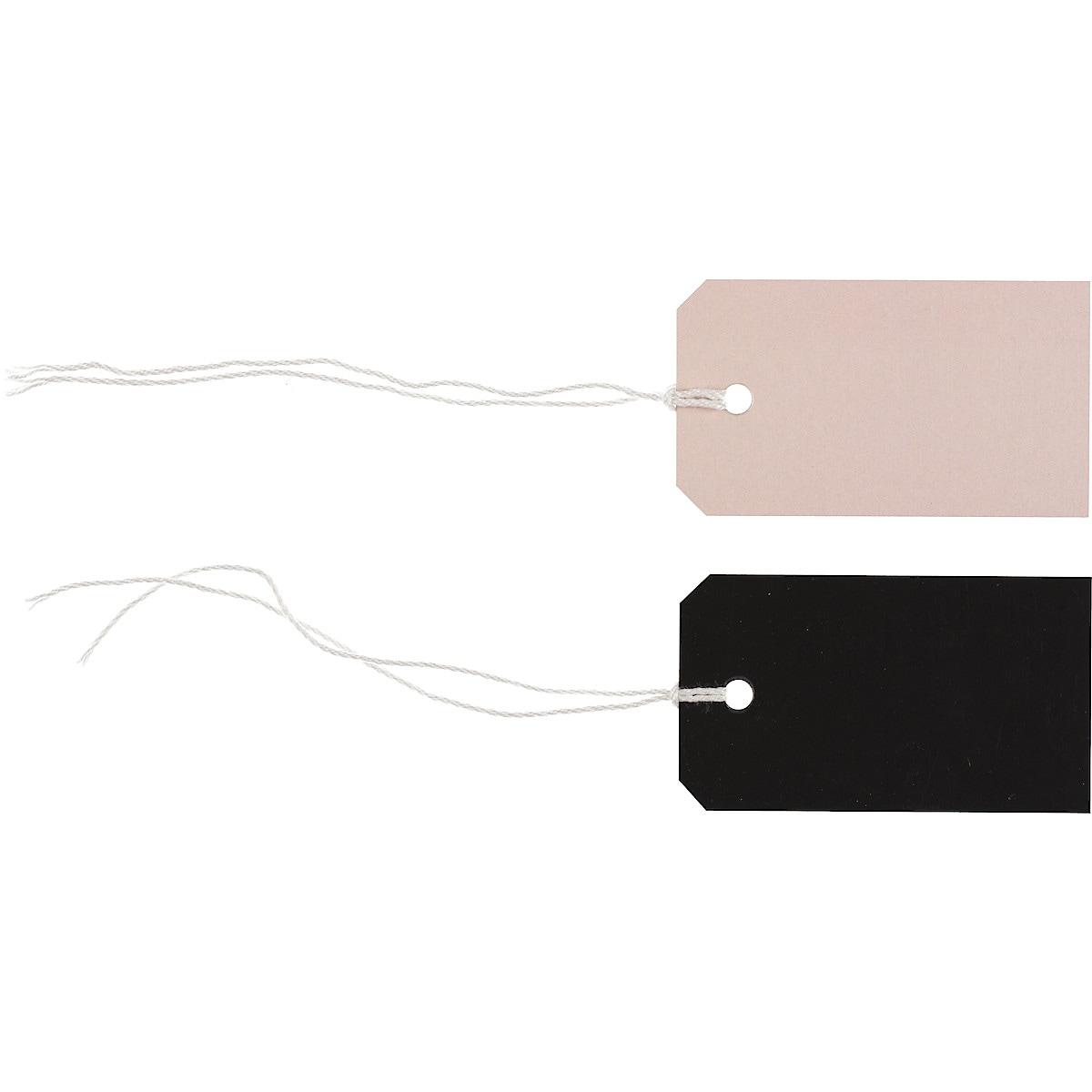 Hängetiketter rosa/svart