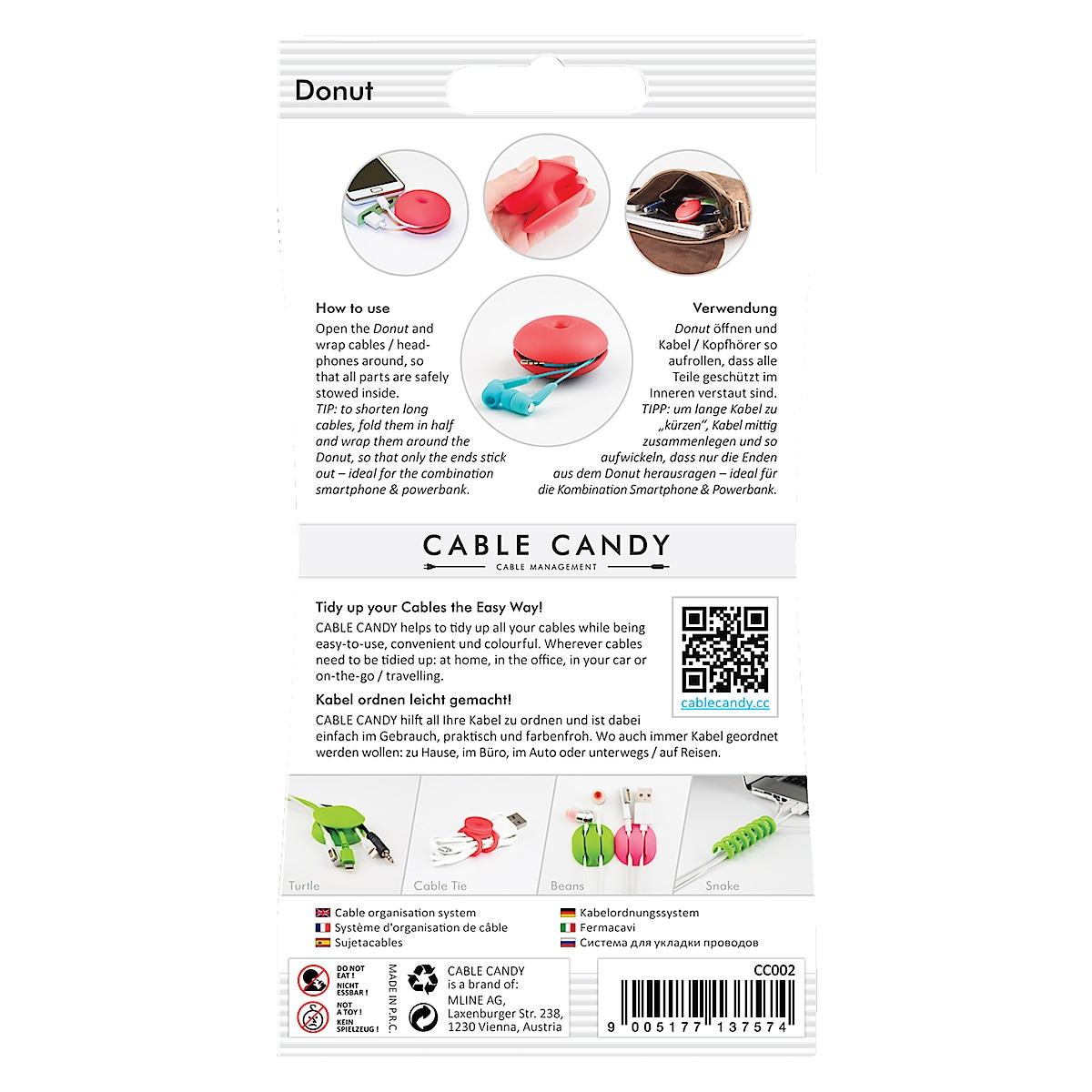 Kaapelinkerääjä Cable Candy Donut