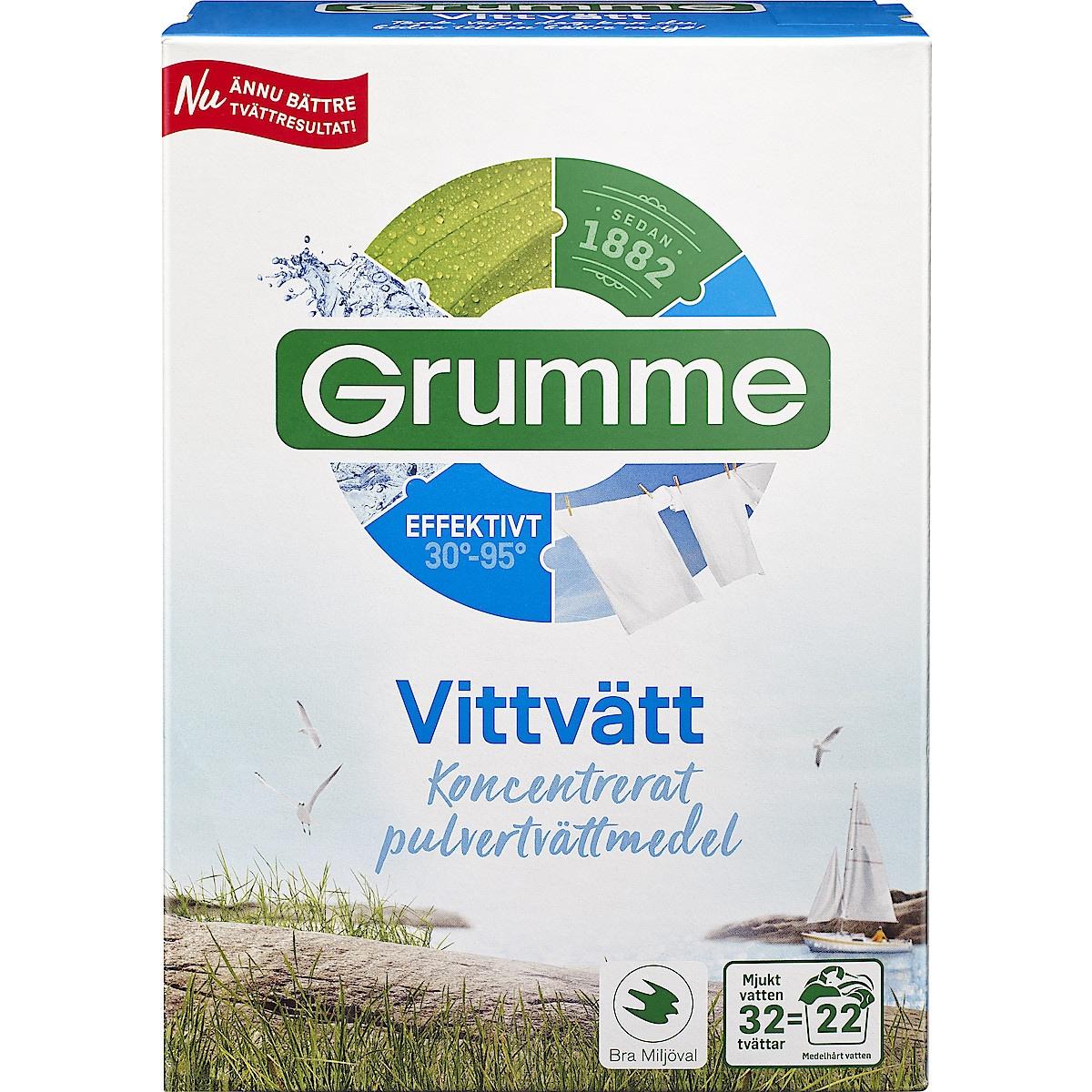 Tvättmedel vittvätt Grumme