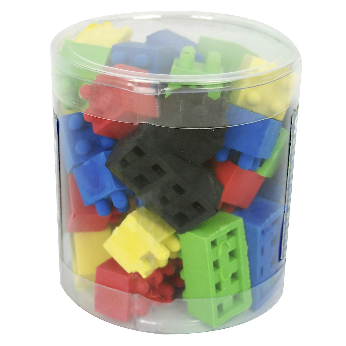 Pot of Colourful Erasers