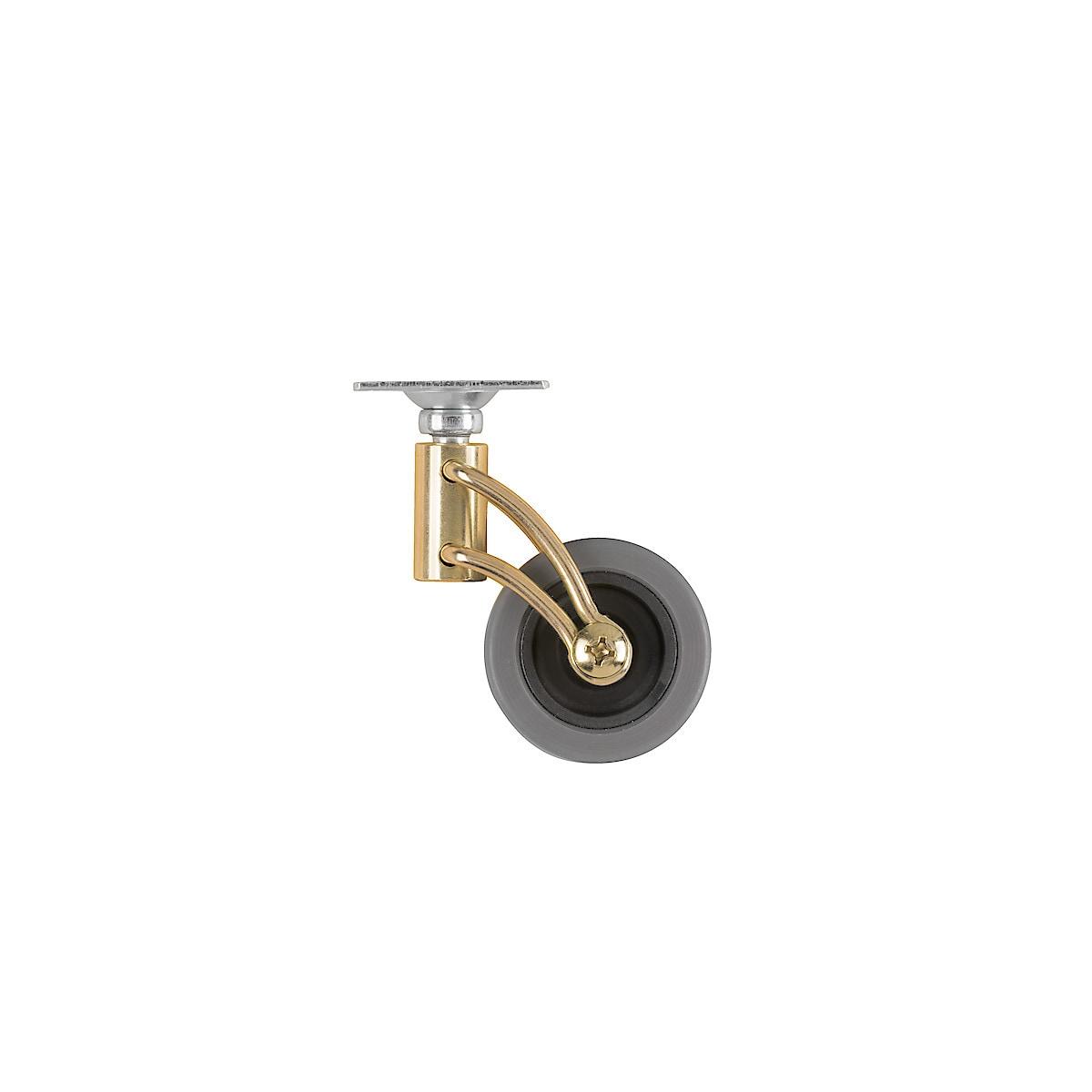 Möbelhjul med mässingsbygel