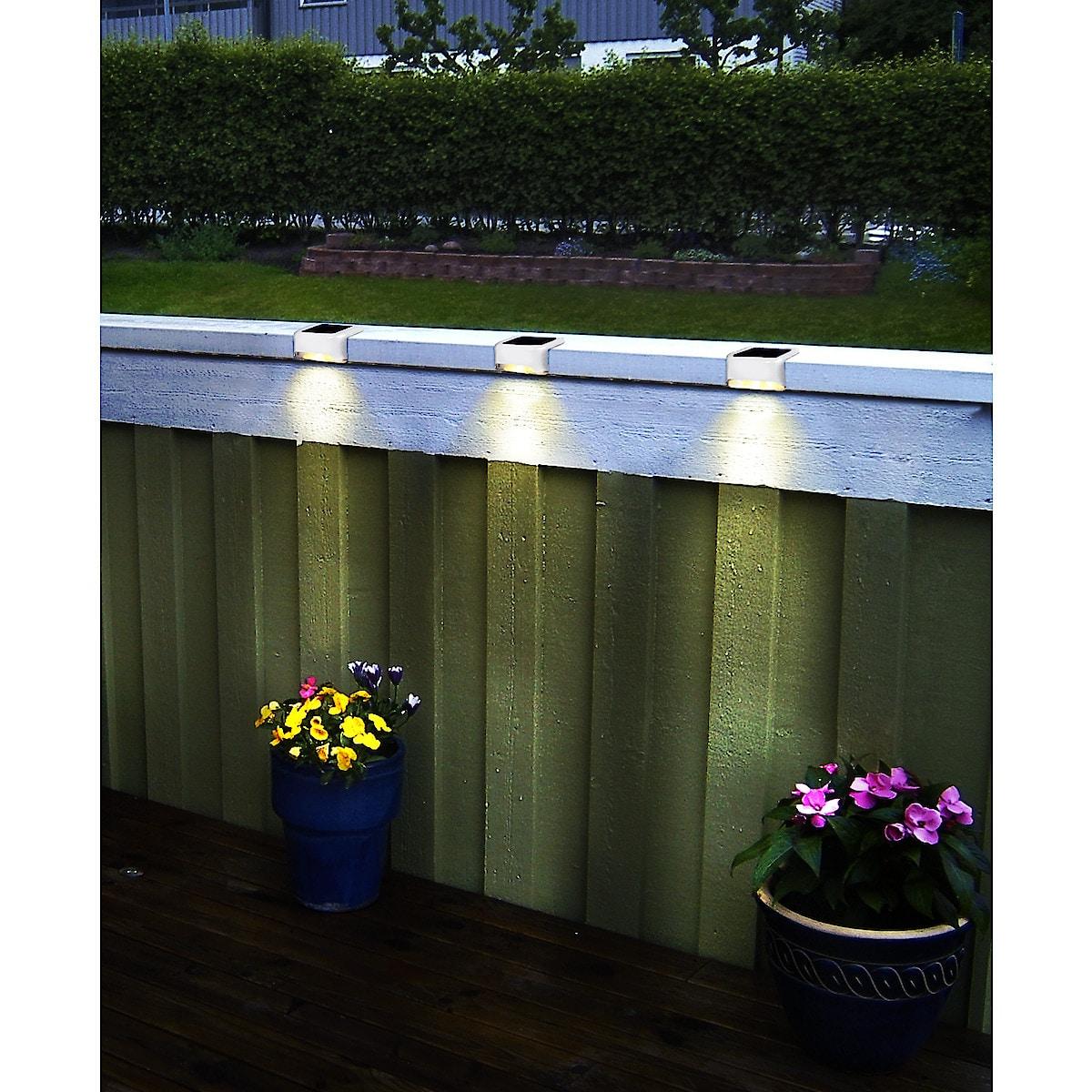 Solcellsbelysning för räcke
