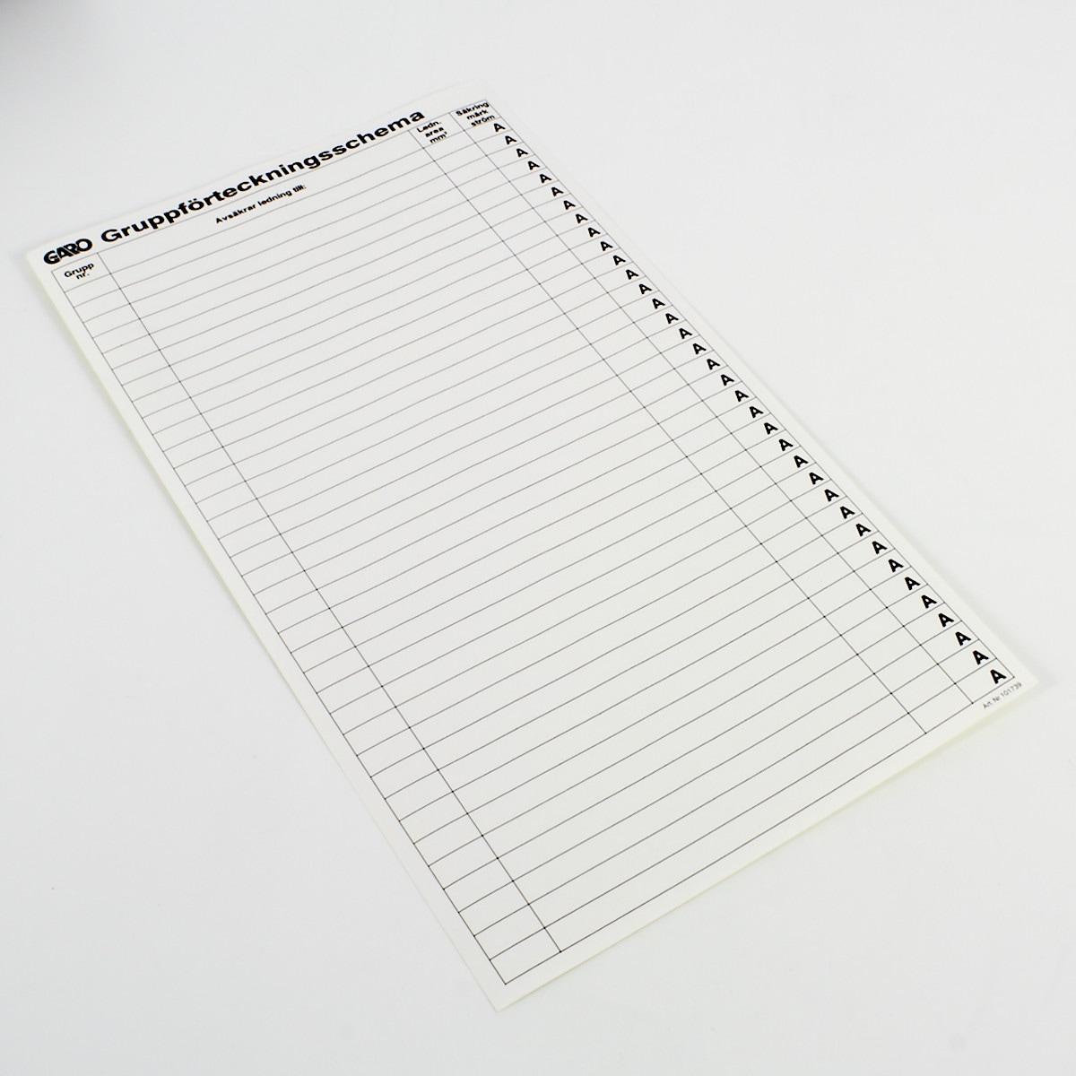 Gruppförteckningsschema