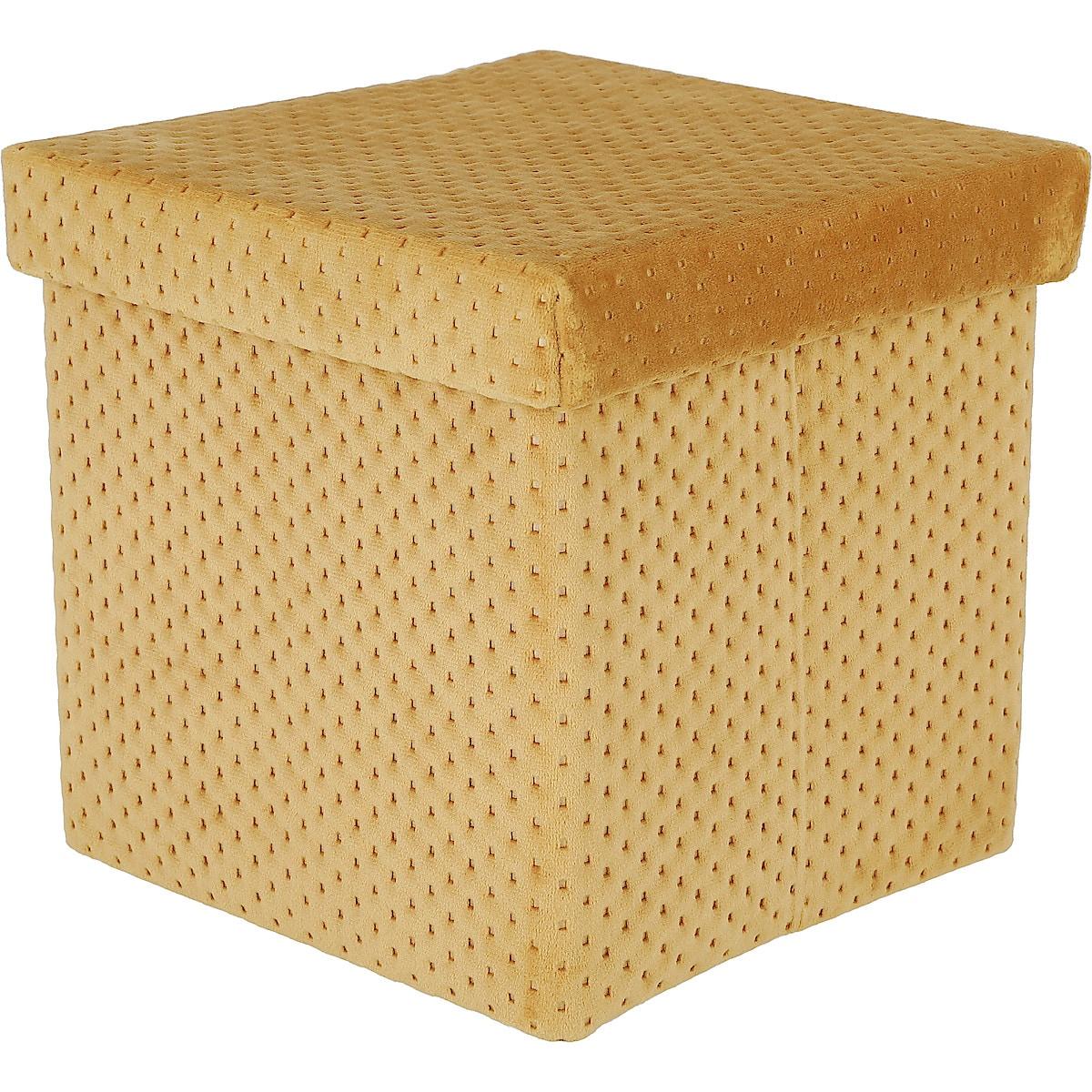 Oppbevaringsboks med lokk, fløyel