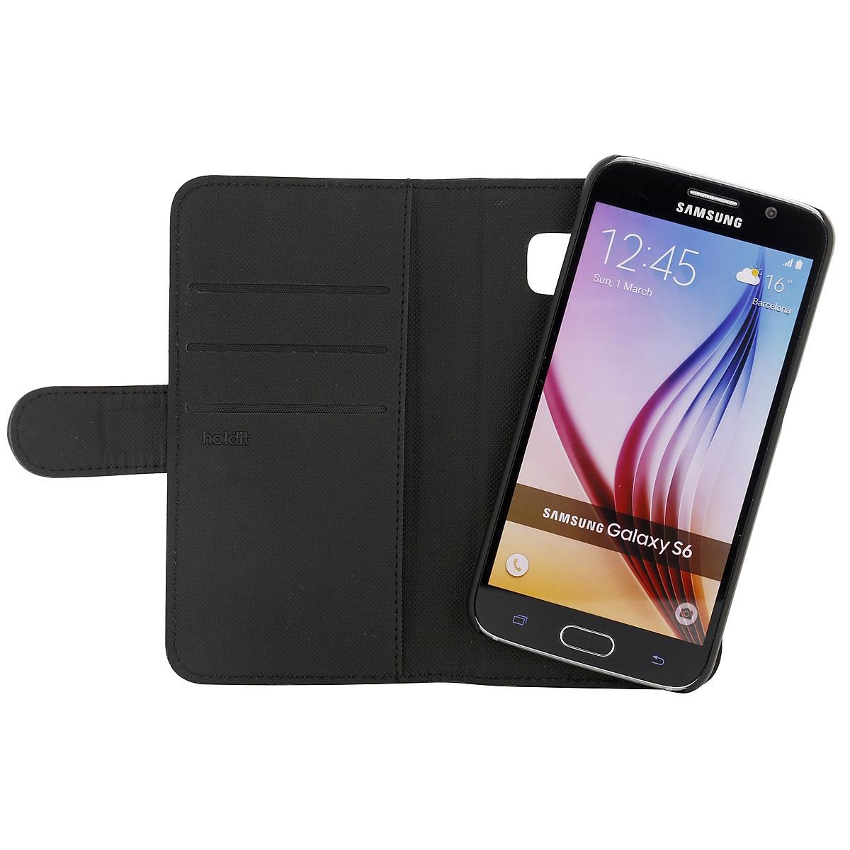 Holdit, flipcase med lommebok til Samsung Galaxy S6