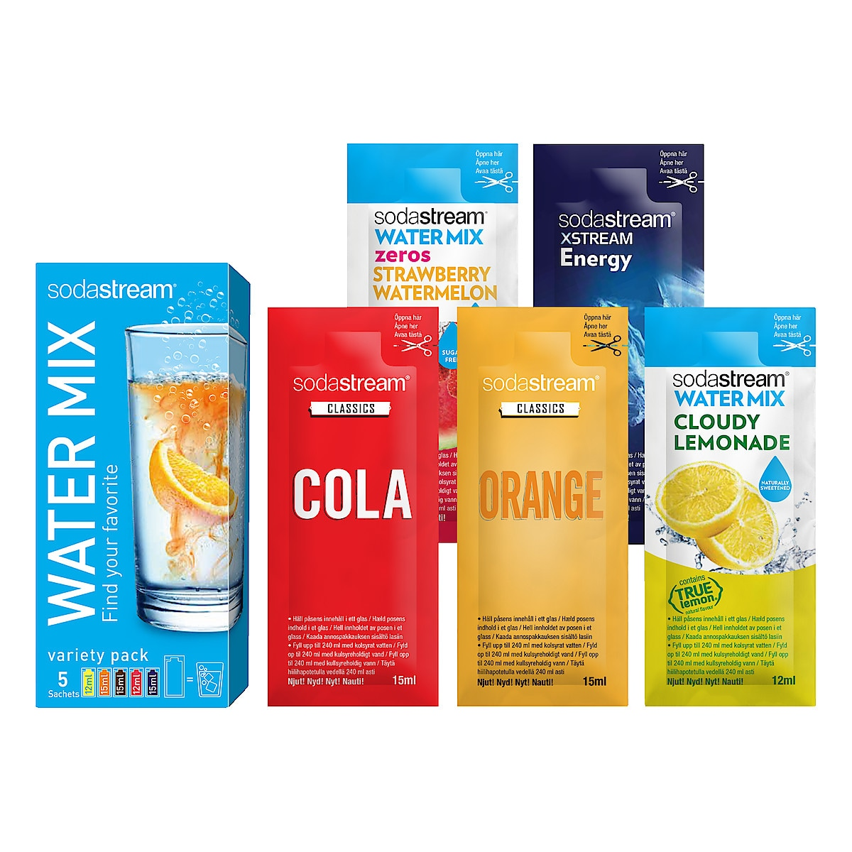 Smakkoncentrat Sodastream 5-pack