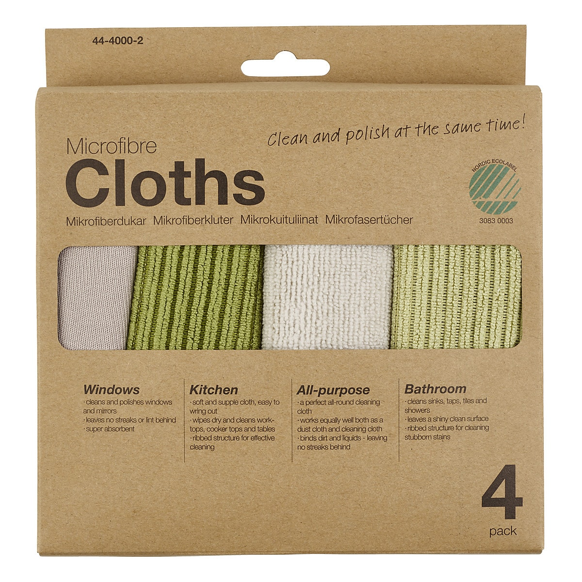Microfibre Cloths 4-pack