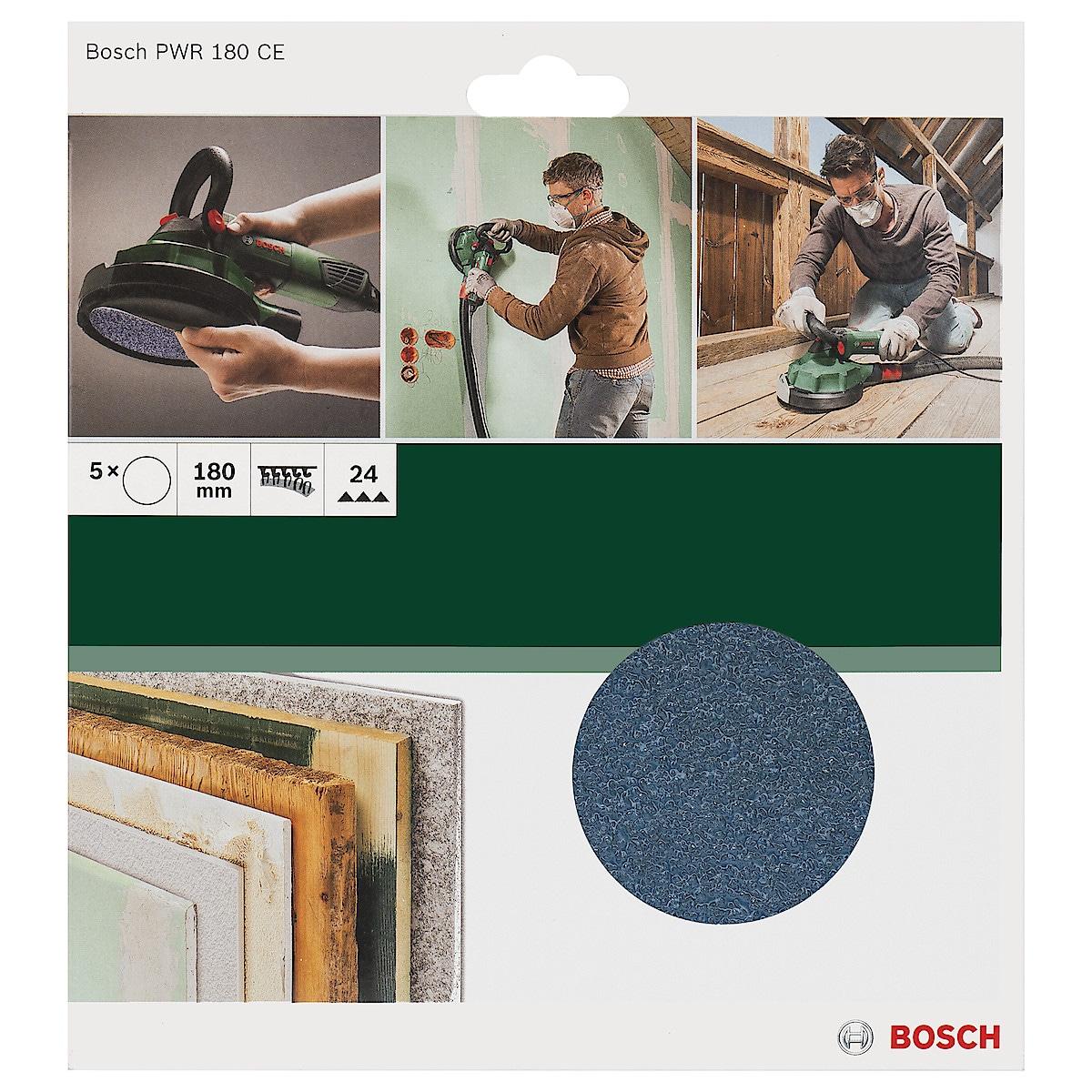 Slippapper, rondell 180 mm, Bosch