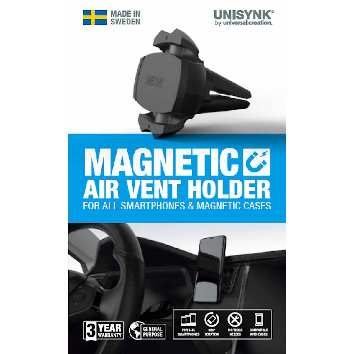 Telefonhållare magnetisk, Unisynk Magnetic Air Vent Holder