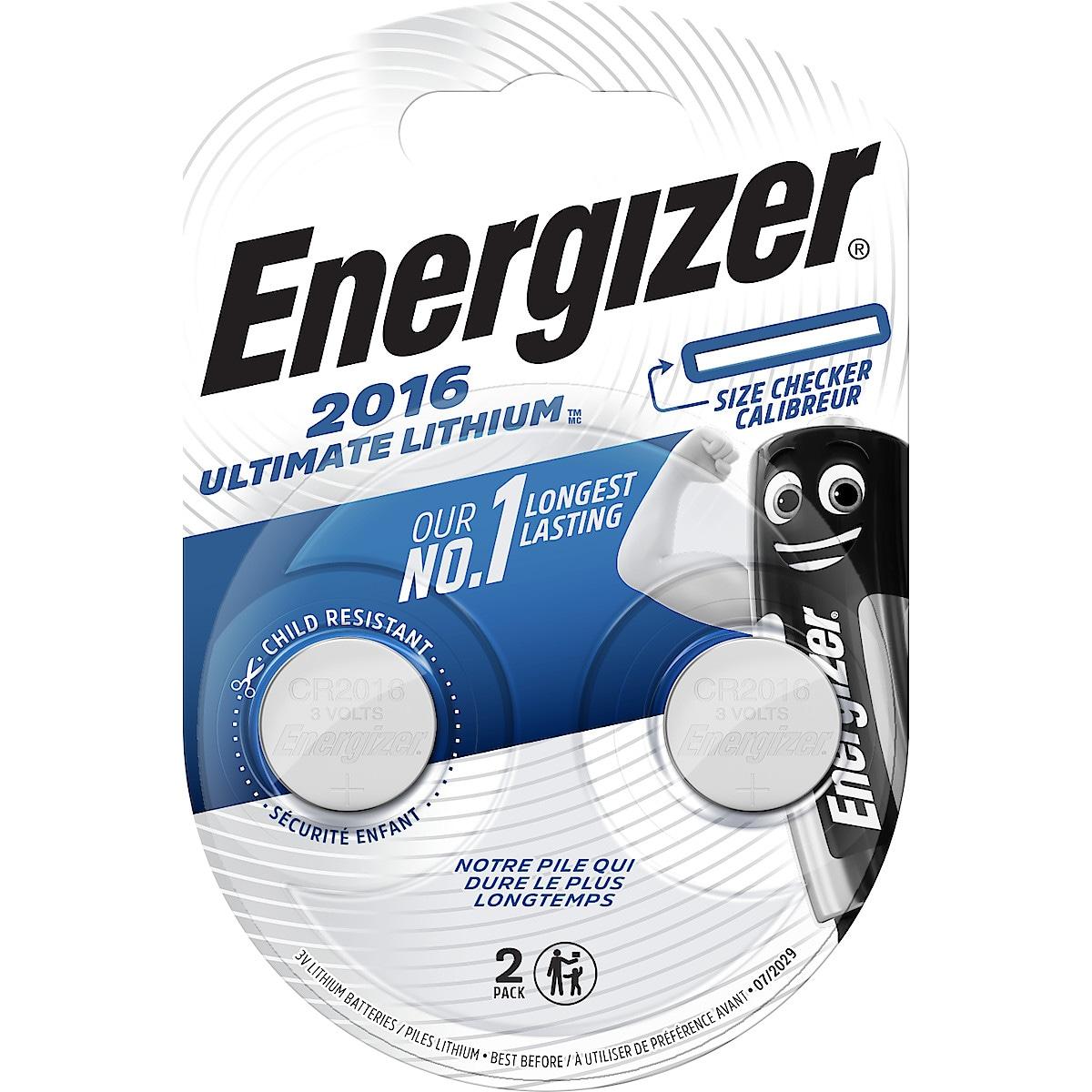 Litiumbatteri CR2016 Energizer