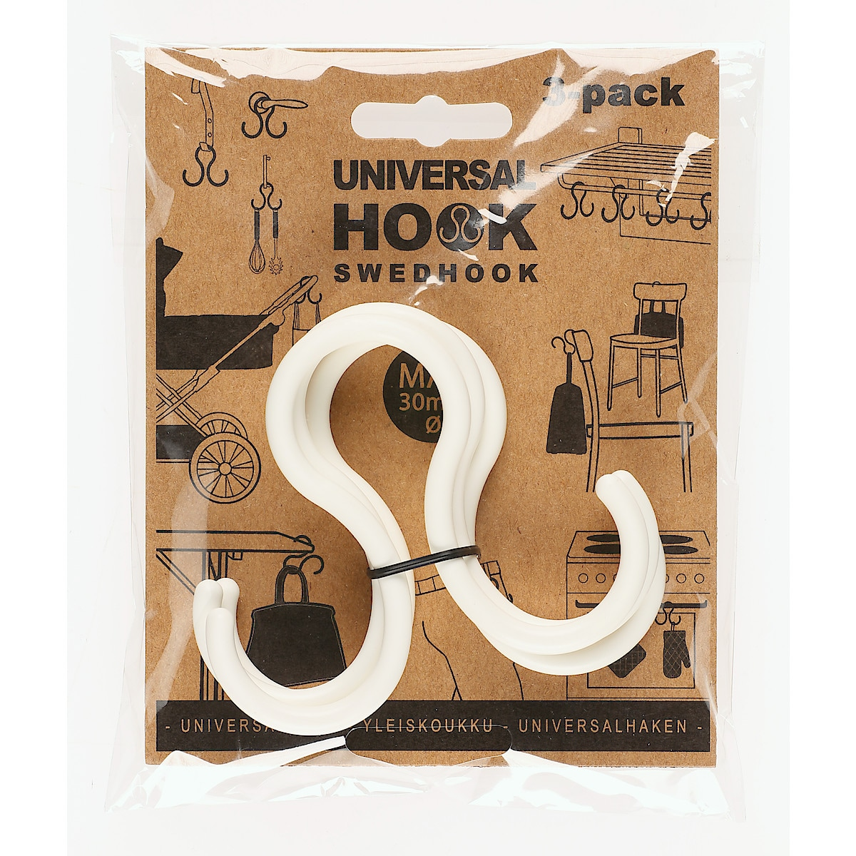 Universalkrok SwedHook, 3-pack