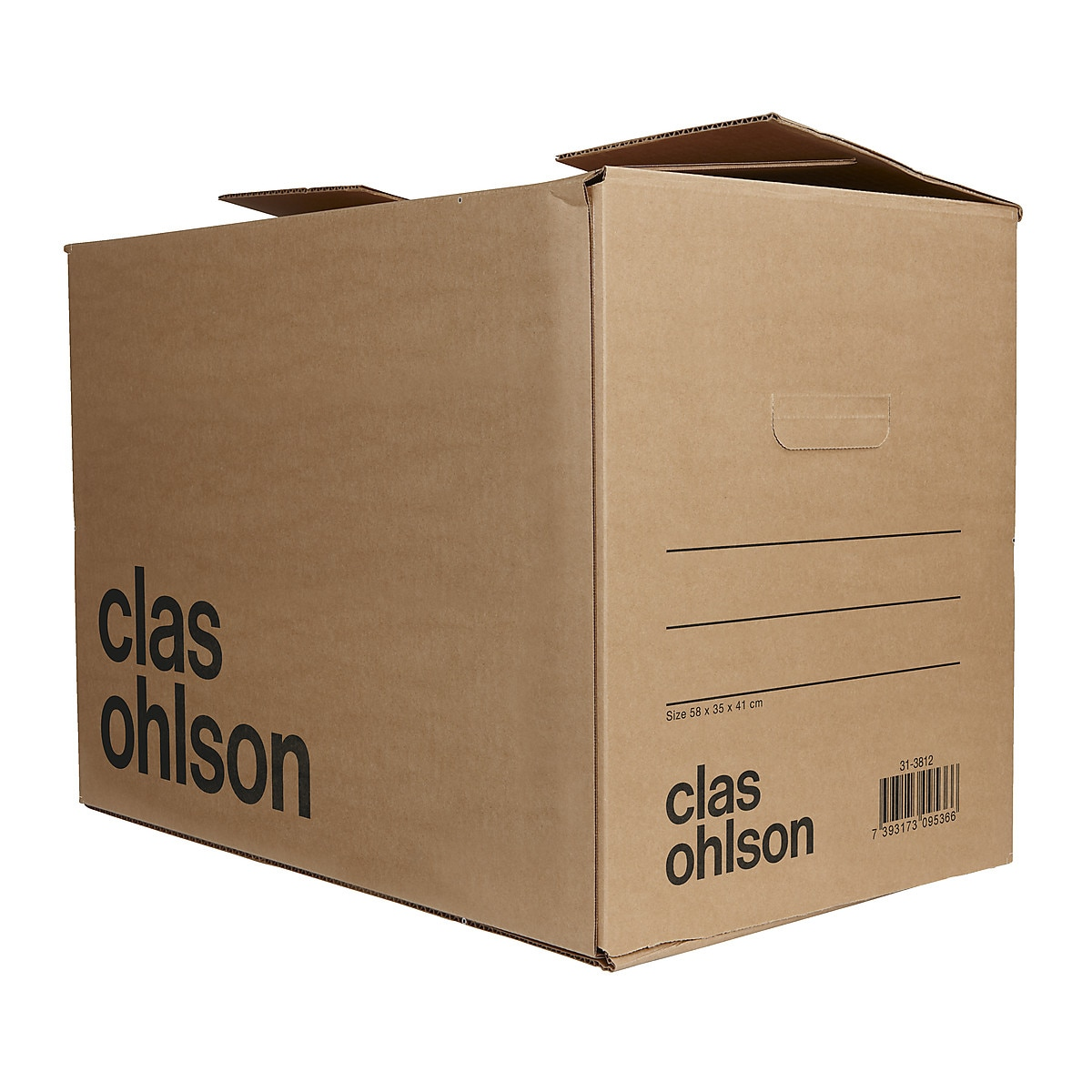 Pack of 5 Removal Boxes, 58 x 33 x 42 cm