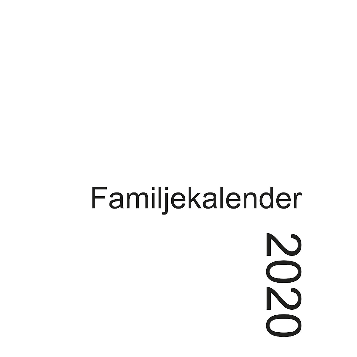 Familjekalender 2020, svenska
