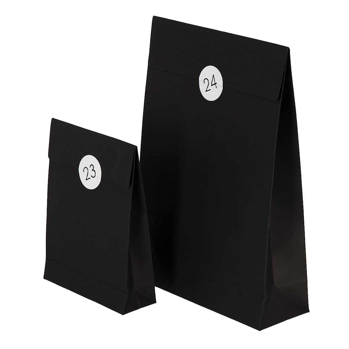 Adventspåsar 24-pack, svart