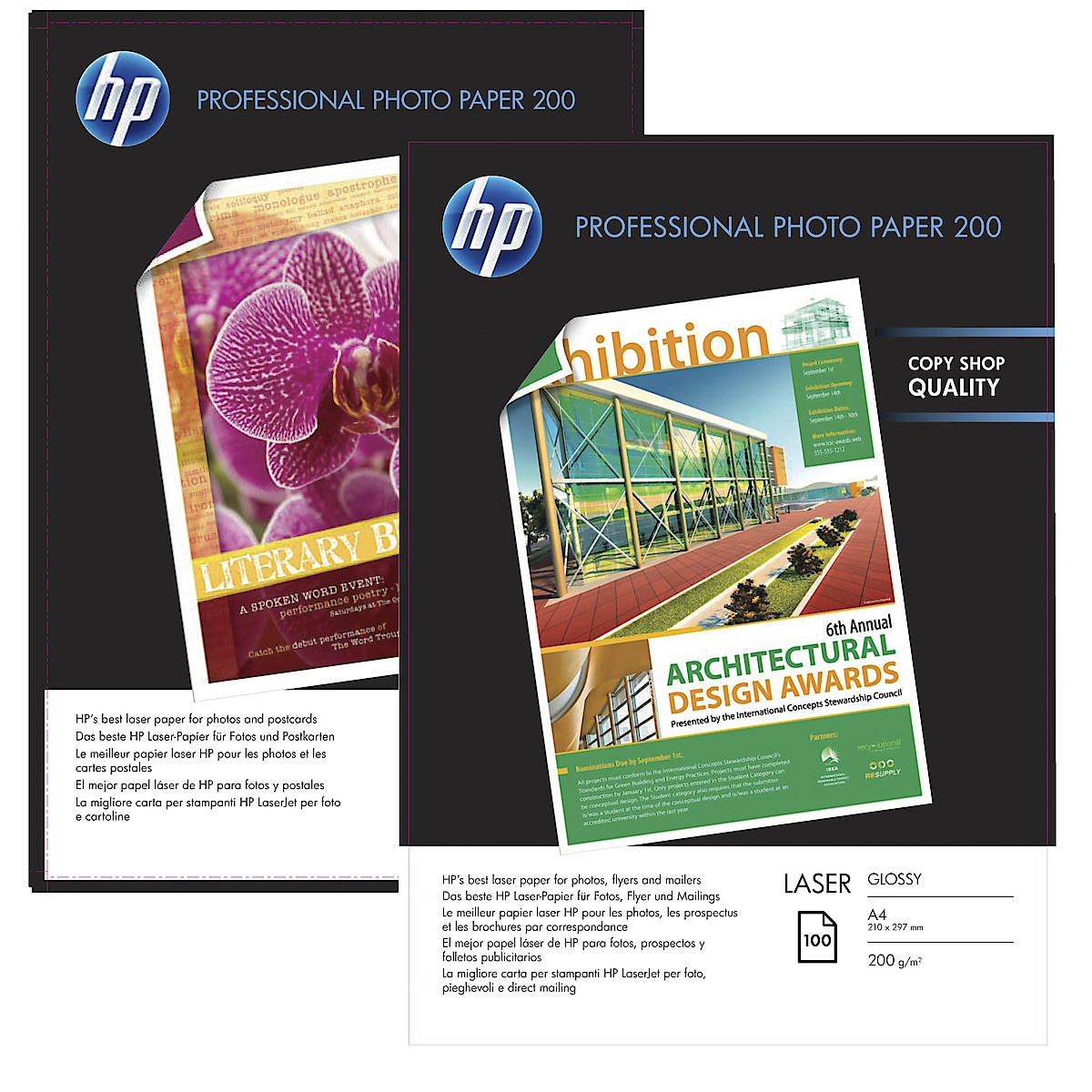 Fotopapper HP Professional laser, Glossy