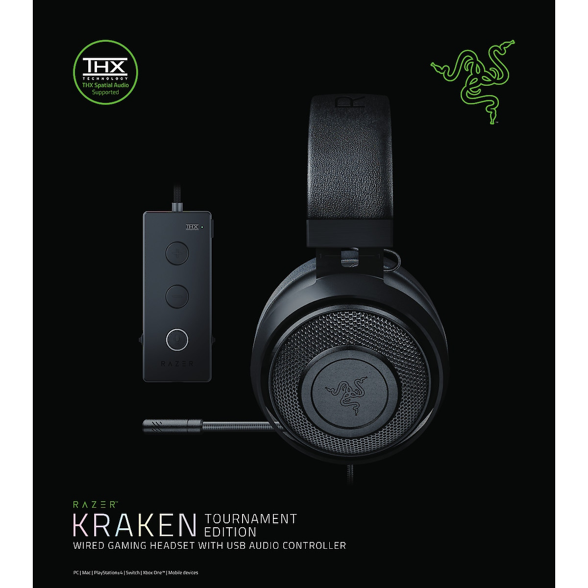 Gaming-headset Razer Kraken Tournament Black Edition