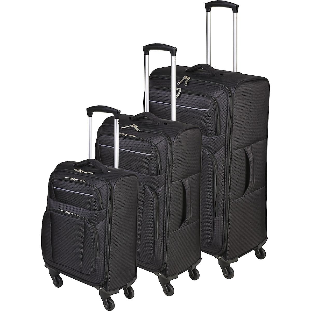 Resväskor 3-pack Asaklitt Lightweight