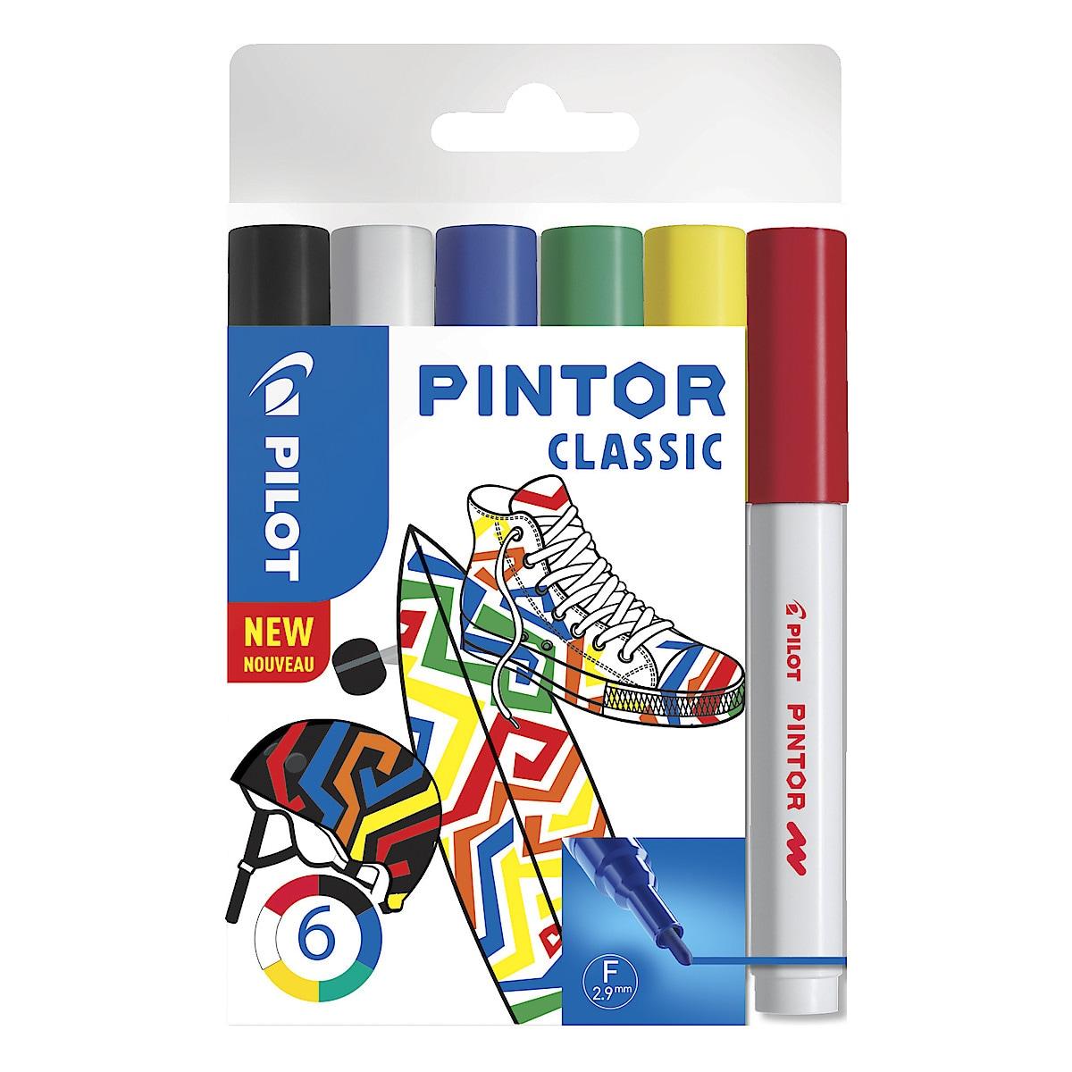 Märkpennor Pilot Pintor classic 6-pack