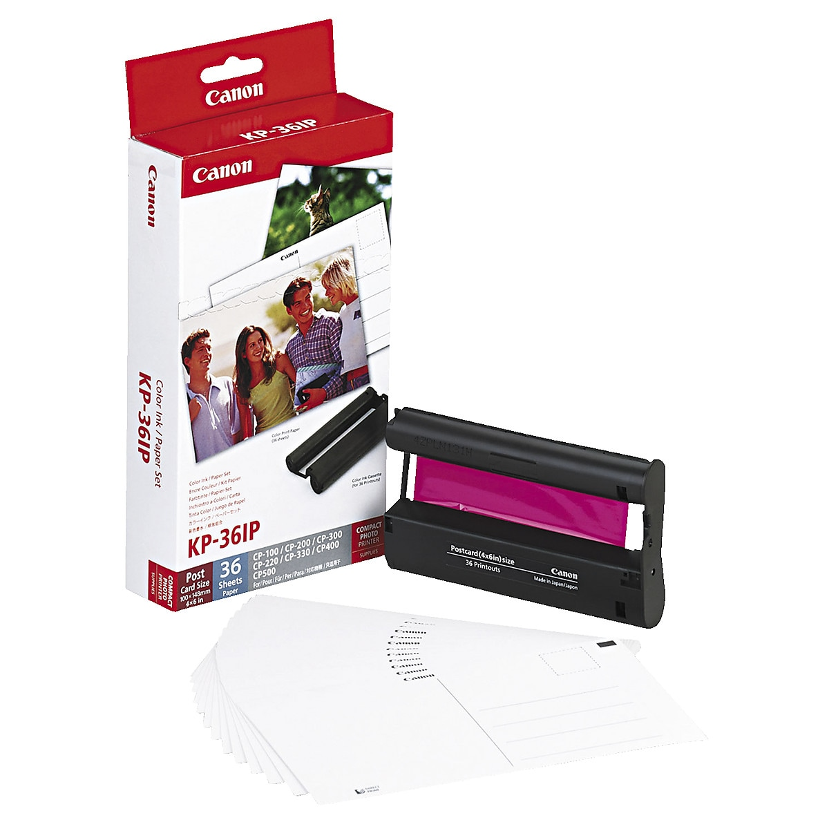 Canon KP-36IP Ink Cartridge Refill and Postcard Paper