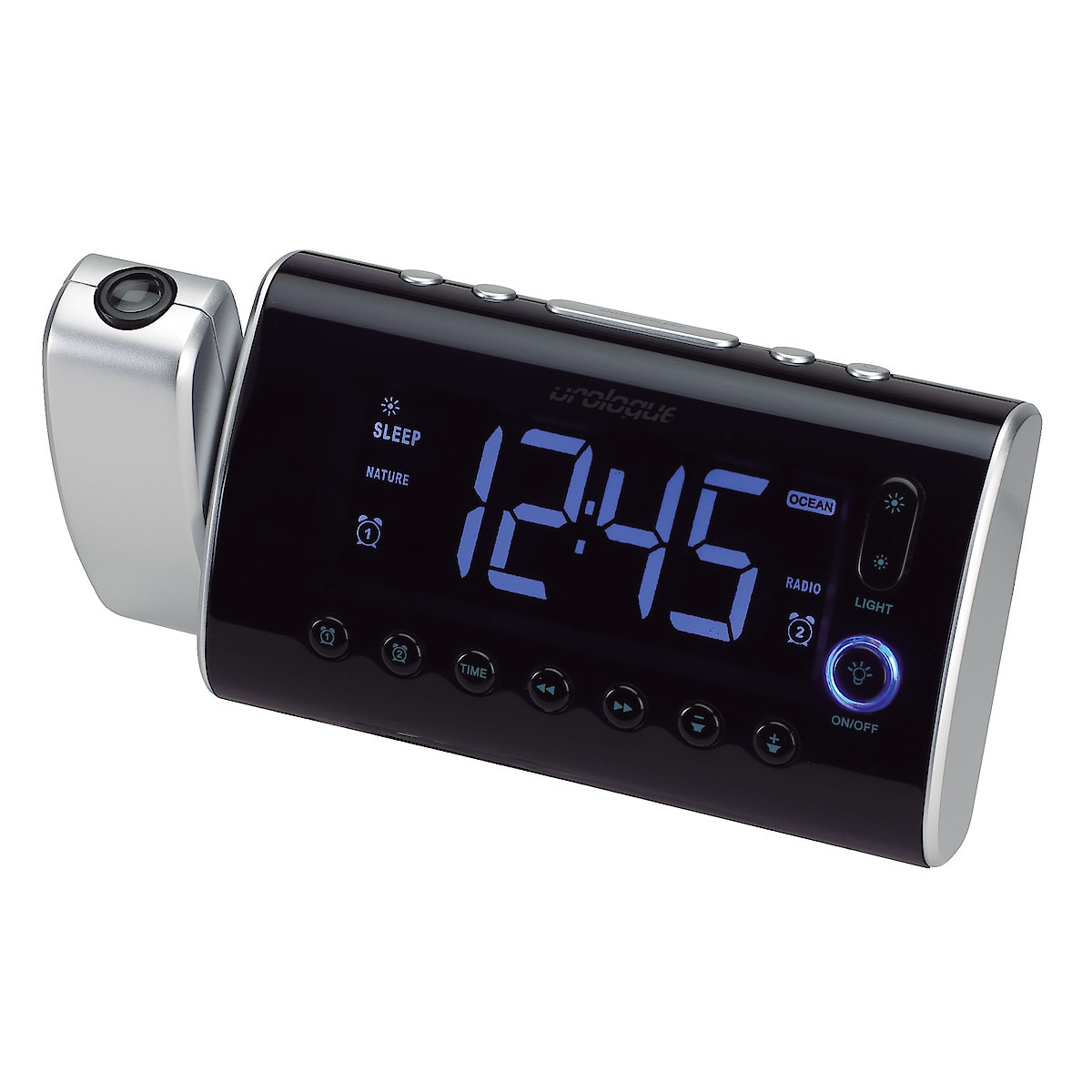 Wake-Up Light Projection Clock Radio