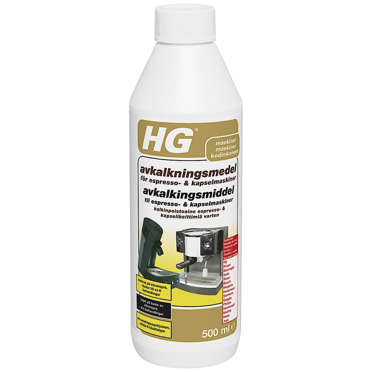 Avkalkningsmedel för kaffemaskiner HG