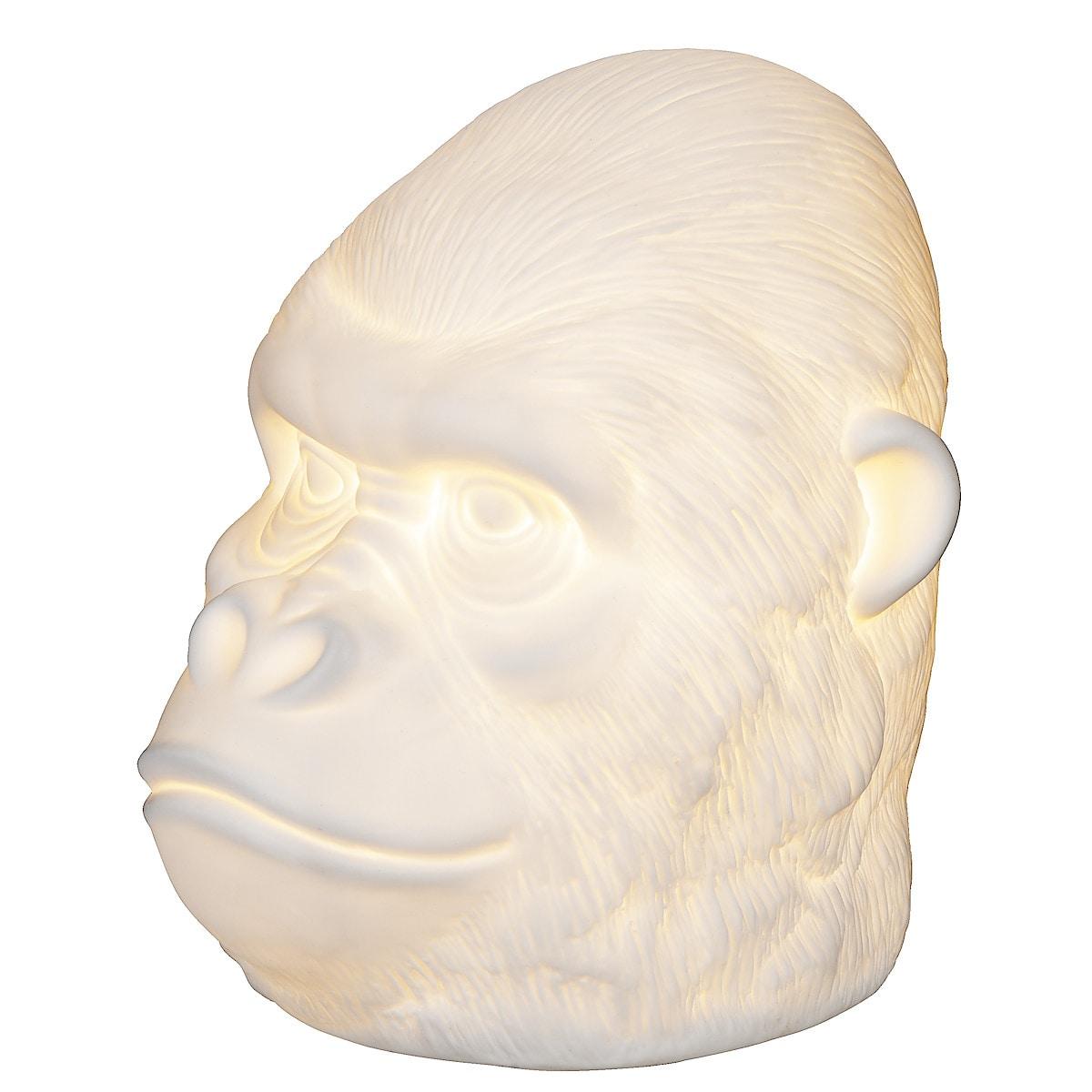 Bordslampa Gorilla i porslin, Northlight