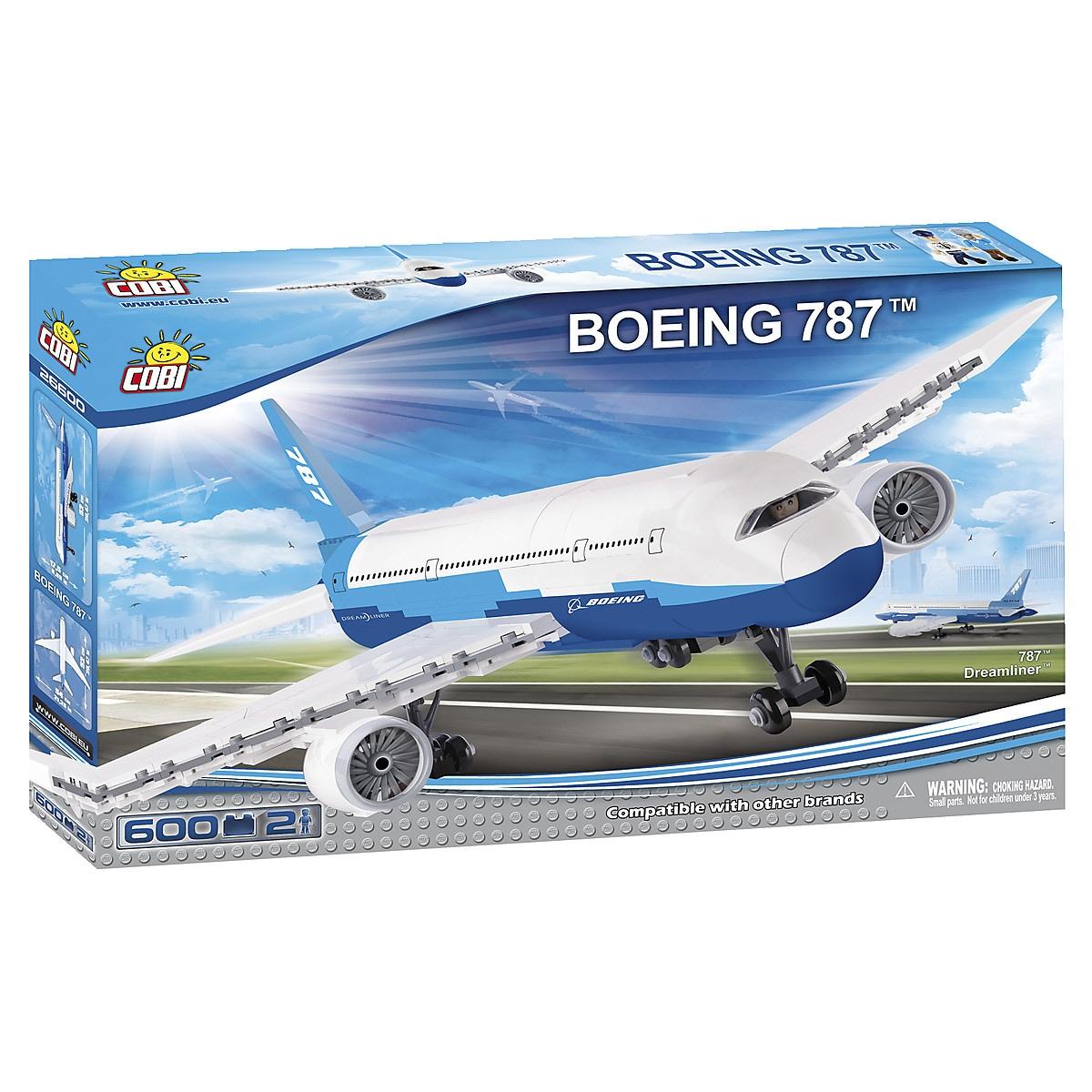 Byggklossar flygplanet Boeing 787 Cobi