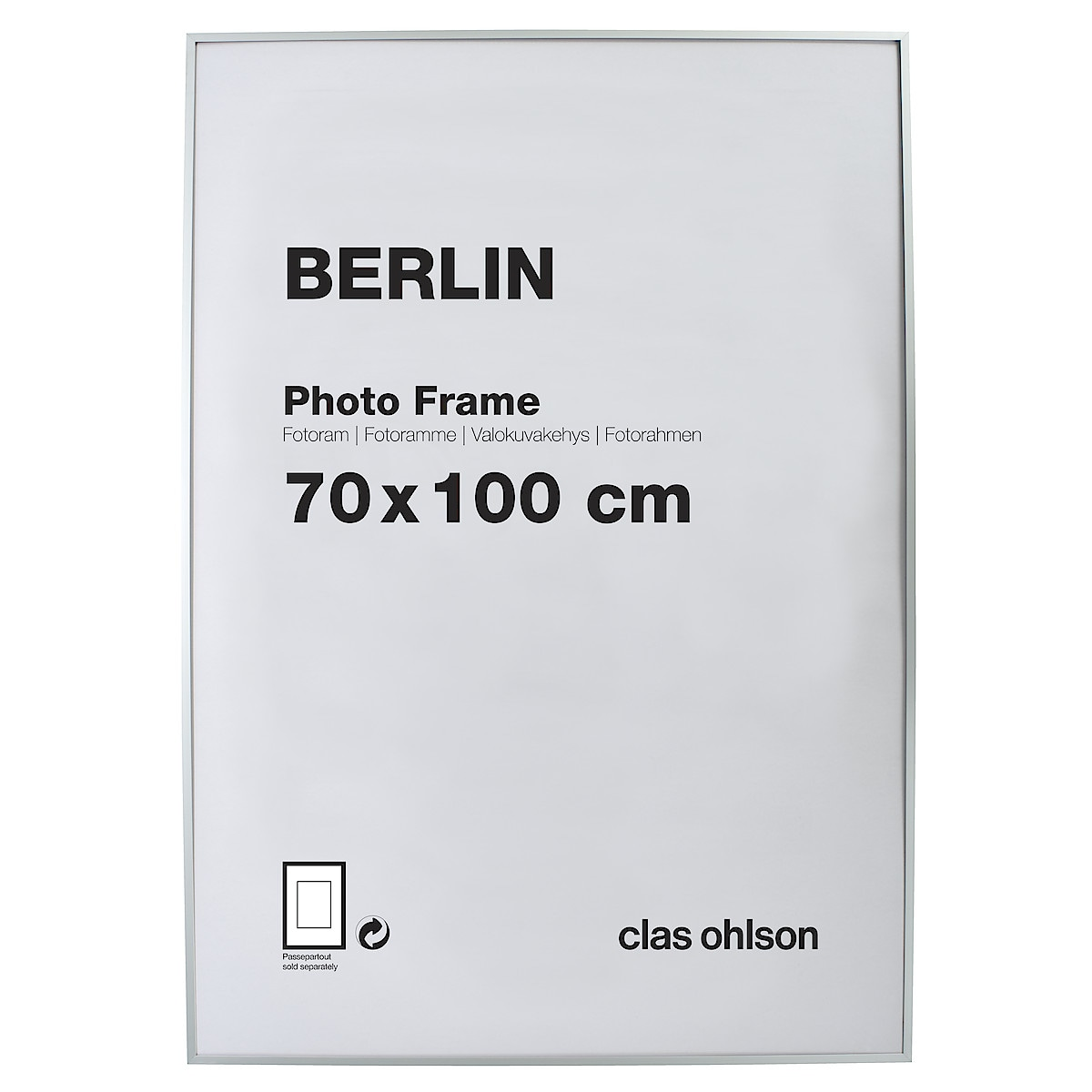 Berlin Photo Frame, silver