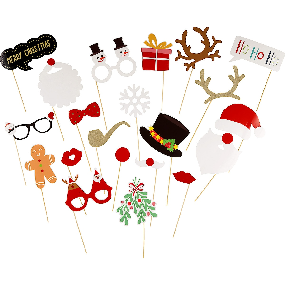 Christmas Photo Props, Pack of 20