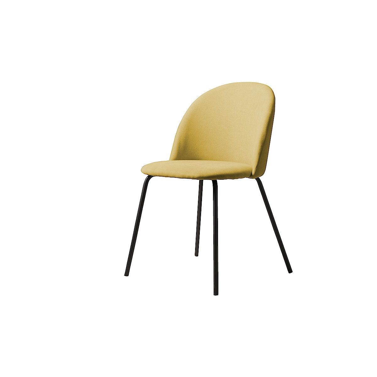 Upholstered Dining Chair with Steel Frame