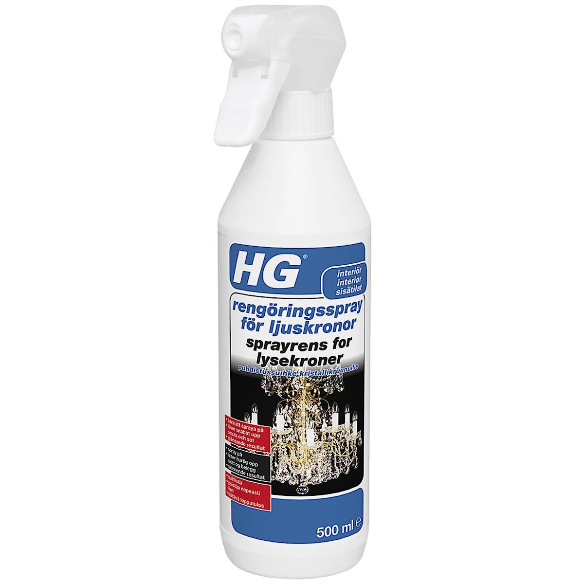 HG rengjøringsspray for lysekroner