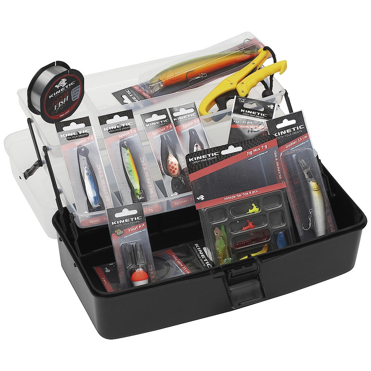 Fiskelåda Kinetic Tackle Box Big Kit Freshwater