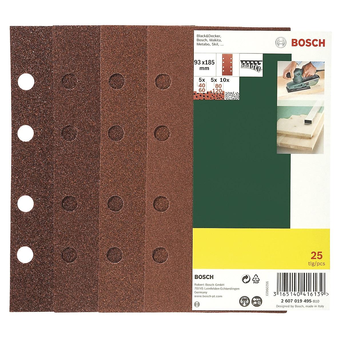 Slippapper 93x185 mm, Bosch