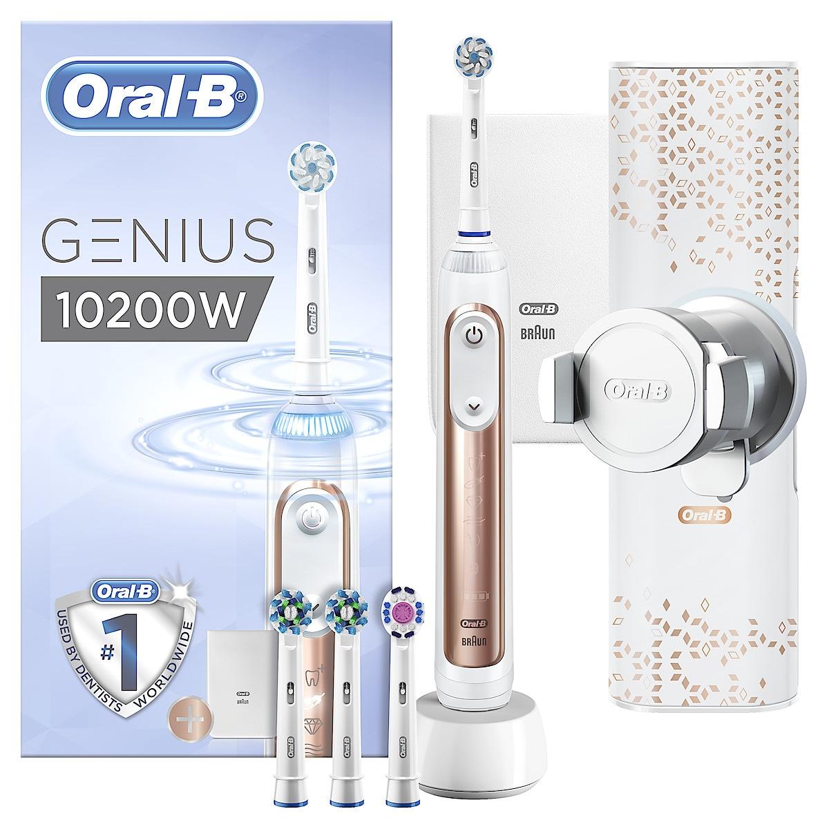 Eltandborste Oral-B Genius 10200W Rose Gold