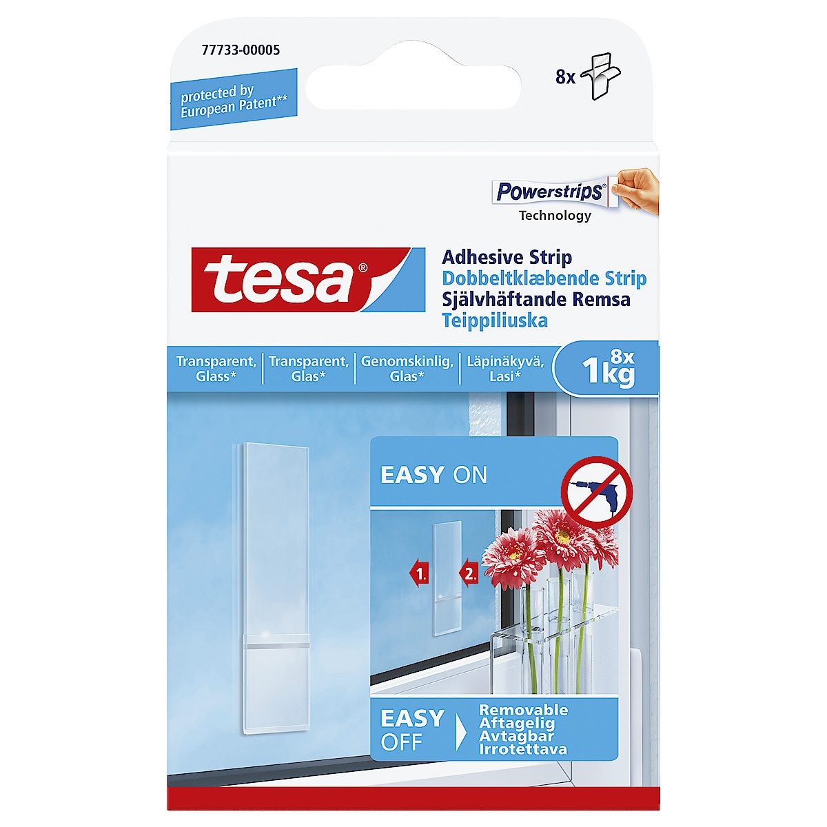 Självhäftande fästkuddar Tesa