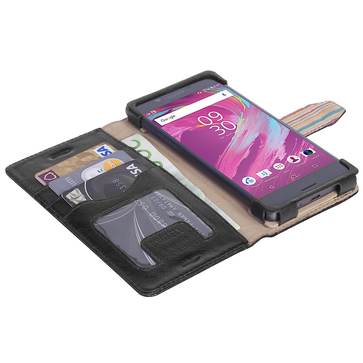 Lompakkokotelo Sony Xperia X:lle ja X Performancelle, Krusell Sigtuna FolioWallet