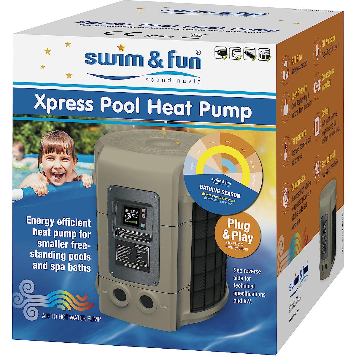 Uima-altaan lämpöpumppu Swim & Fun Xpress 6+