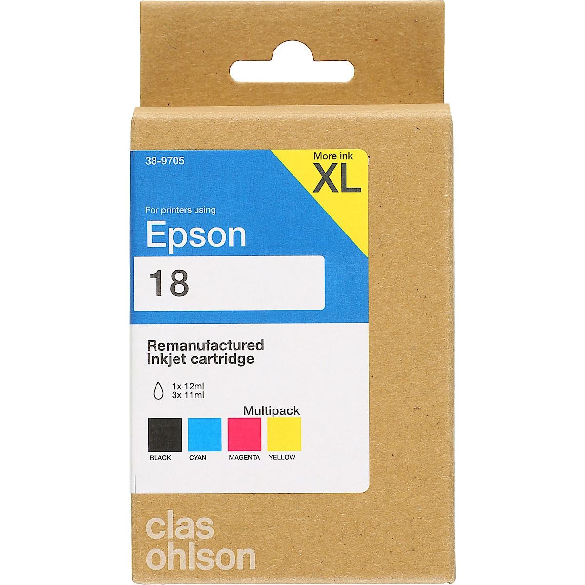 Epson T18 bläckpatron multipack XL, Clas Ohlson