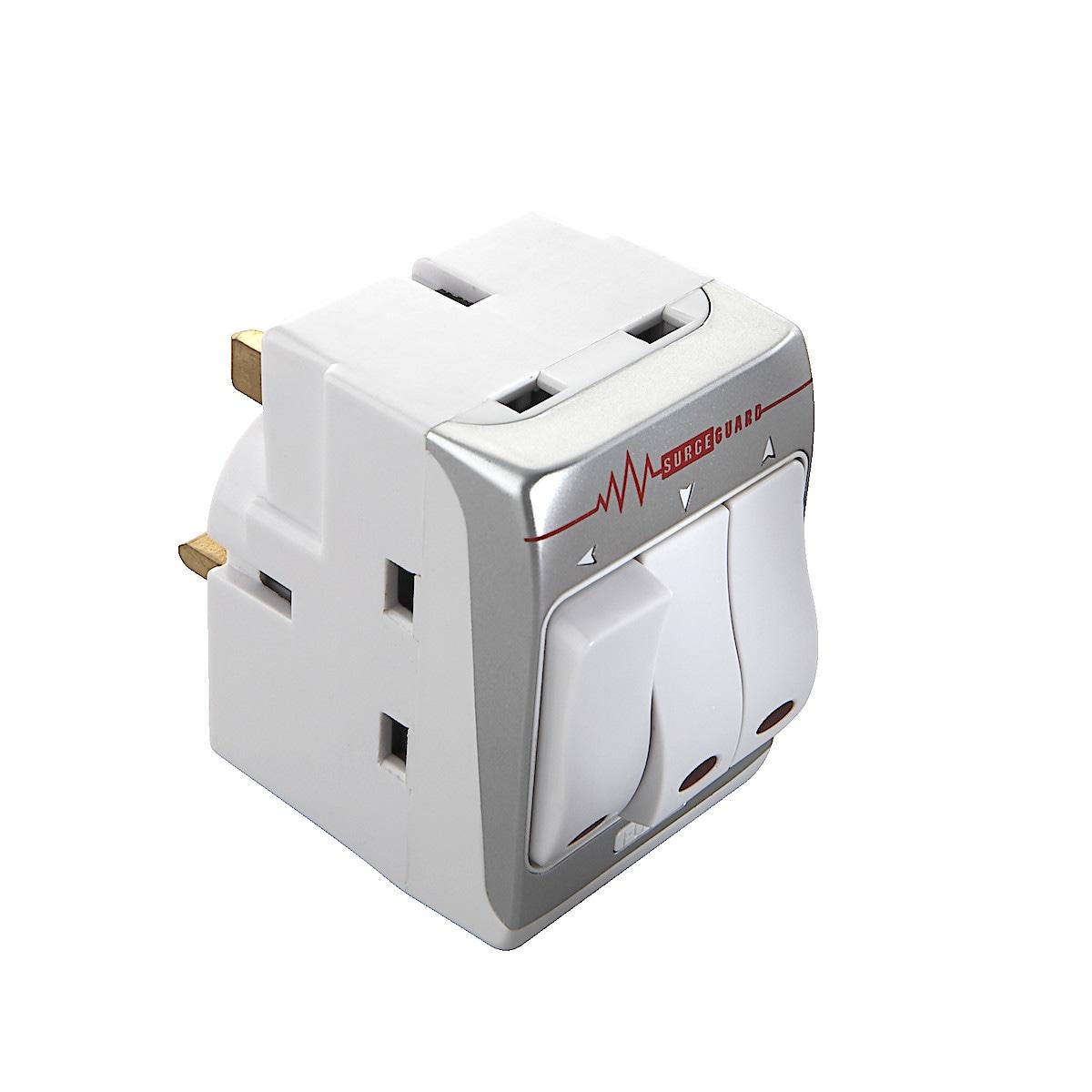 Masterplug Surge Protected Adaptor