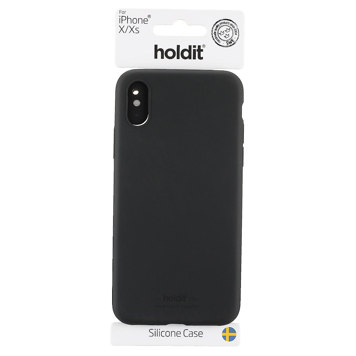 Mobilskal i silikon för iPhone X/XS, Holdit