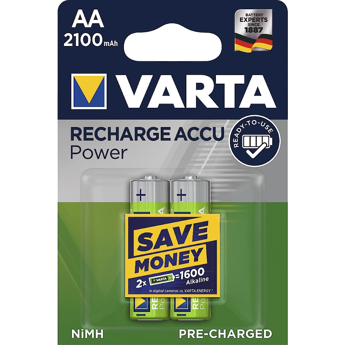 Laddningsbart batteri AA/HR6 2100 mAh VARTA Power