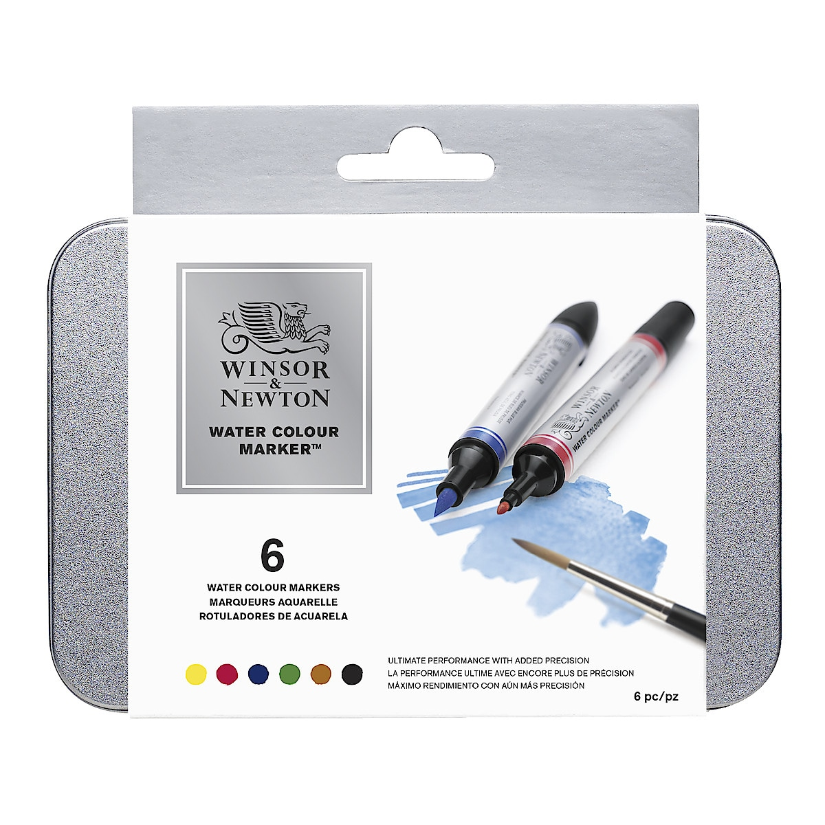 Akvarellilehtiö ja kynät