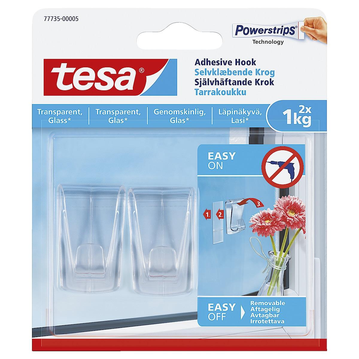 Självhäftande krokar Tesa