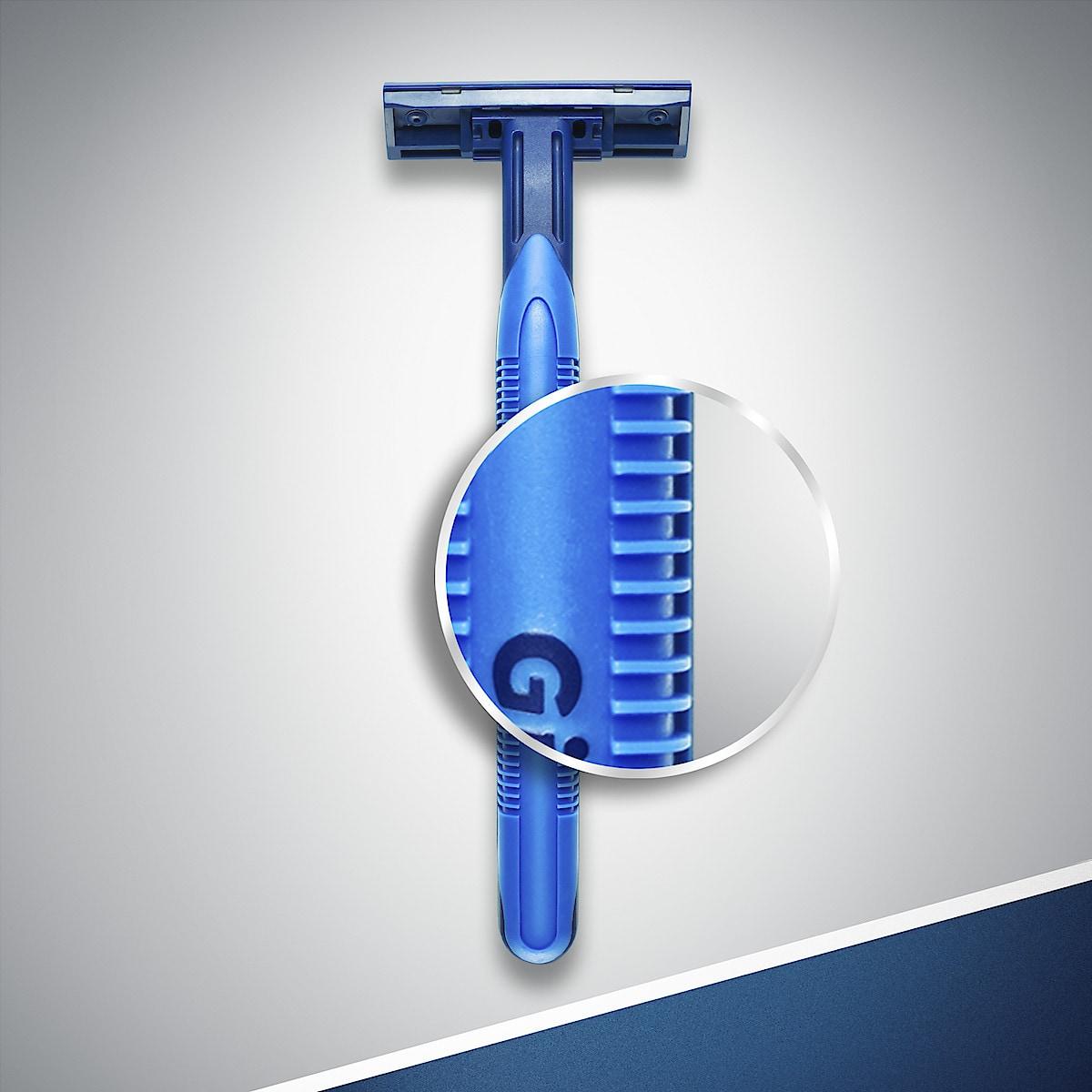 Pack of 10 Gillette Blue II Plus Slalom Disposable Razors