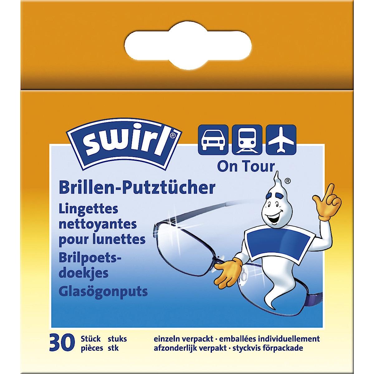 Rengöringsservetter för glasögon Swirl 30-pack