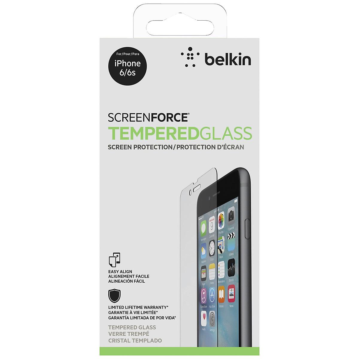 Lasinen näytösuojus iPhone 6/6S:lle, Belkin Glass